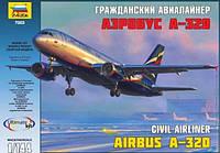 1:144 Сборная модель самолета Airbus A320 'Аэрофлот', Звезда 7003