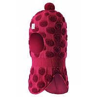 Зимняя шапка -шлем для девочки Reima 518432-3560. Размеры 46 - 52.