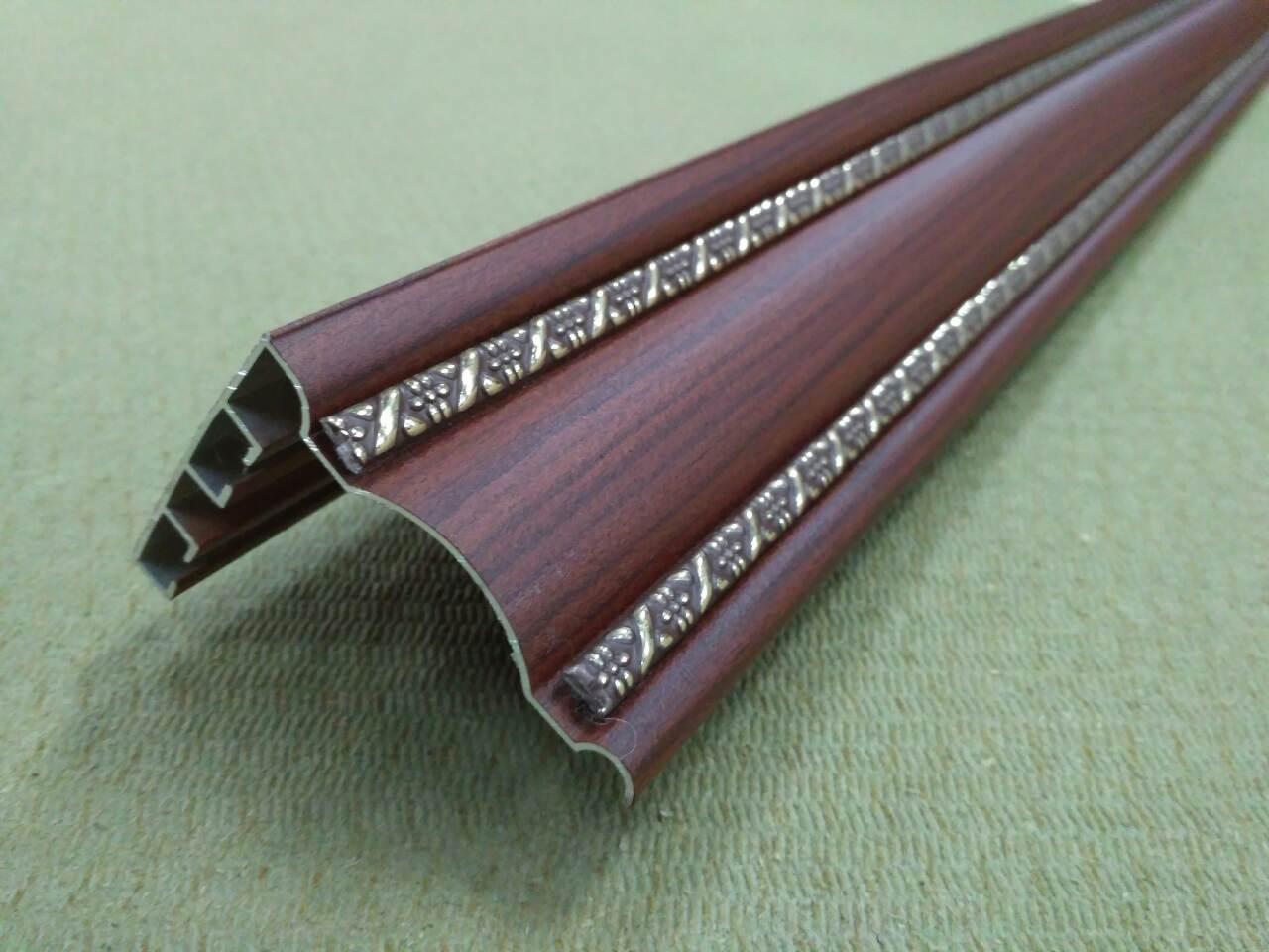 Карниз алюминиевый Бр 04 Цвет Махонь x длина 2,5 метра (есть 3 шт)