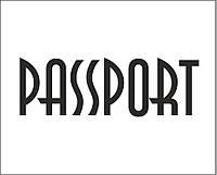 Надпись из термотрансферной пленки - PASSPORT