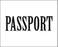 Надпись из термотрансферной пленки - PASSPORT 1