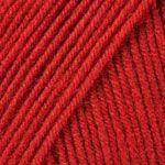 Пряжа Ярнарт Супер мерино Super Merino, №1175, красный