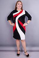 Клавдия. Шикарное платье для женщин плюс сайз. Красный. 50