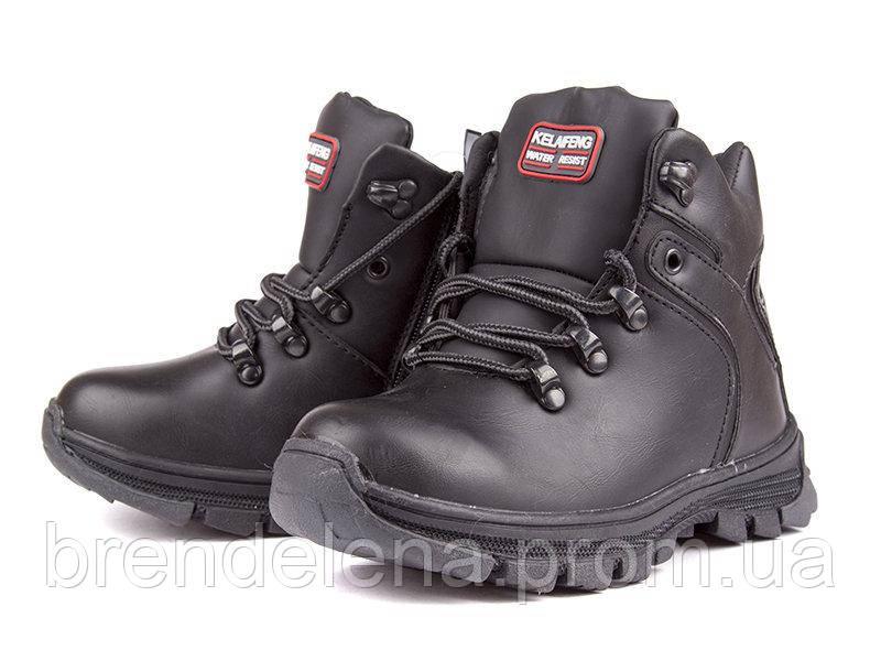 Черевики чорні зимові для хлопчика нат.хутро(р33)