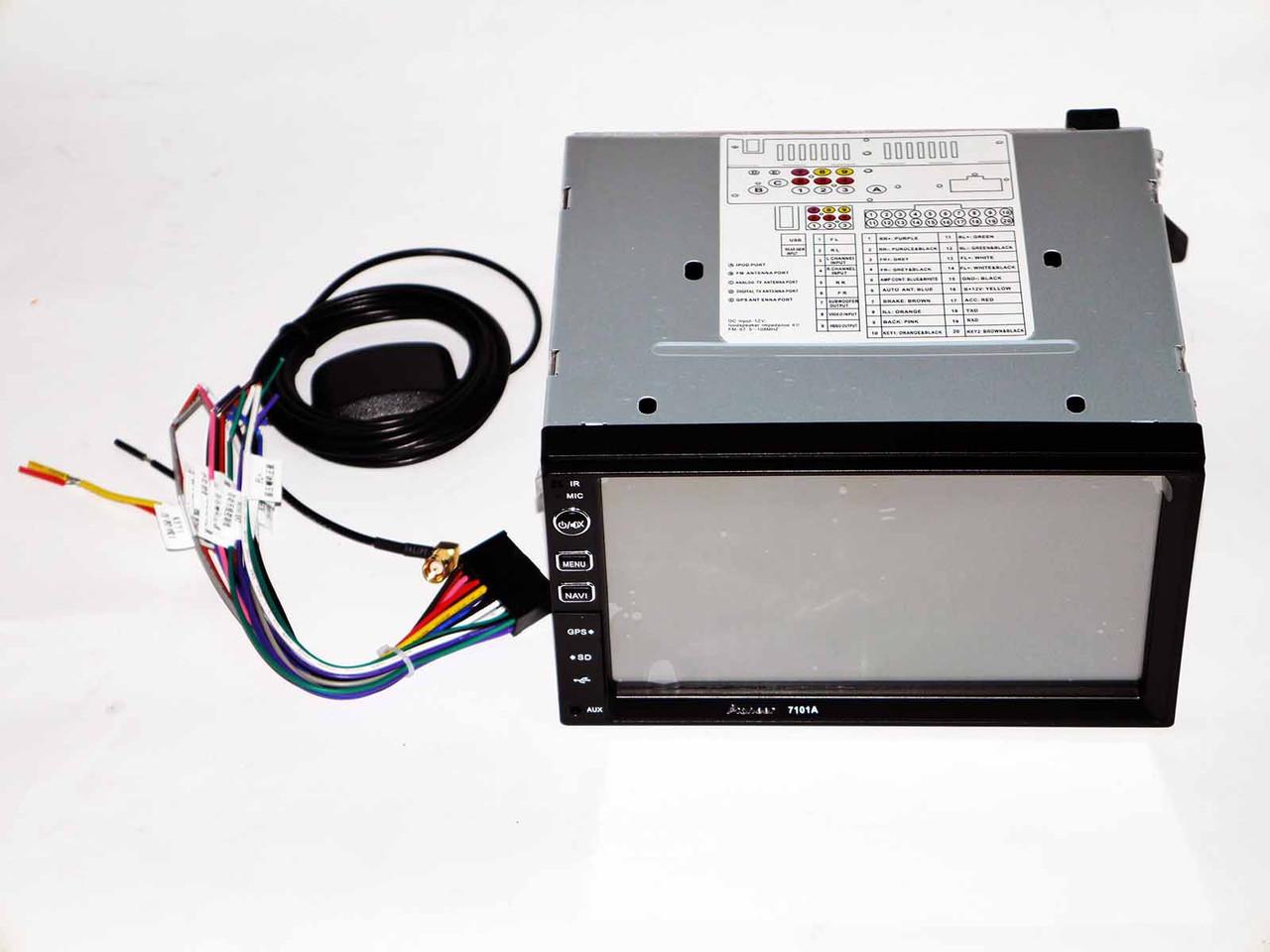 Магнитола Pioneer 7101A 2din GPS+USB+BT+TV