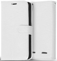 Кожаный чехол-книжка  для Lenovo K3, K30-T, A6000, A6010, A6010 Plus белый
