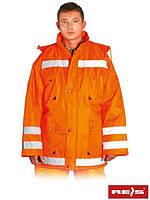 Куртка зимняя с отражающими полосами отличная для дорожников