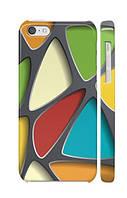 """Пластиковый чехол """"iDAY"""" Разноцветный для iPhone 5C"""