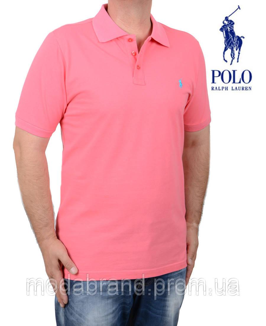 c70b76937c0 Мужская ярко-розовая футболка-поло от Polo Ralph Lauren(реплика ...