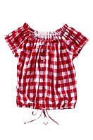 Блуза красная в клетку ELLOS, размер 36/38