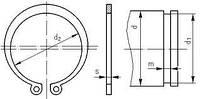 Кольцо А180 стопорное DIN471, фото 1