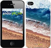 """Чехол на iPhone 4s Берег моря """"3041c-12-8079"""""""