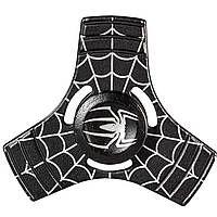 Cпиннер металлический Fidget spinner Паук Черный игрушка антистресс