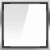 Квадратная решетка из белого стекла для трапа ACO ShowerPoint