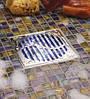 Квадратная решетка из белого стекла для трапа ACO ShowerPoint, фото 3