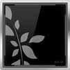 Квадратная решетка, черное стекло с орнаментом ACO ShowerPoint
