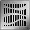 Квадратная решетка Форест ACO ShowerPoint с замком