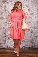 Стильное платье бочонок с поясом