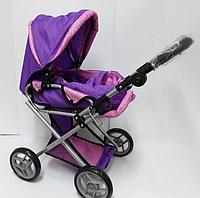 Коляска для кукол трансформер Melogo 9346, фиолетово-розовая, фото 1