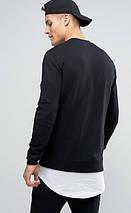 Черная мужская кофта-бомбер с кармашком на рукаве, фото 3