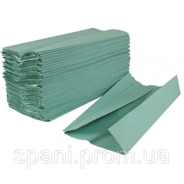Полотенце бумажное в пачке V-складка зеленое/синее, 160 листов - Salonshop.com.ua - товары для специалистов красивого бизнеса в Киеве
