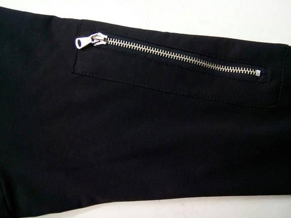 Черная мужская кофта-бомбер с кармашком на рукаве, фото 2