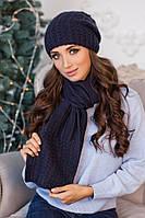 Комплект «Коссандра» (шапка + шарф) 4456-10 джинс