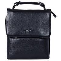 Эксклюзивная кожаная сумка черная с ручкой