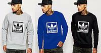 Спортивная кофта Adidas\Адидас, серая, синяя, черная, Л45