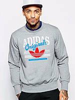 Спортивная кофта Adidas\Адидас, серая, ХБ, Л64