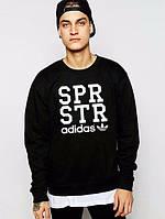 Спортивная кофта Adidas SPR STR\Адидас СПР СТР, черная, Л78