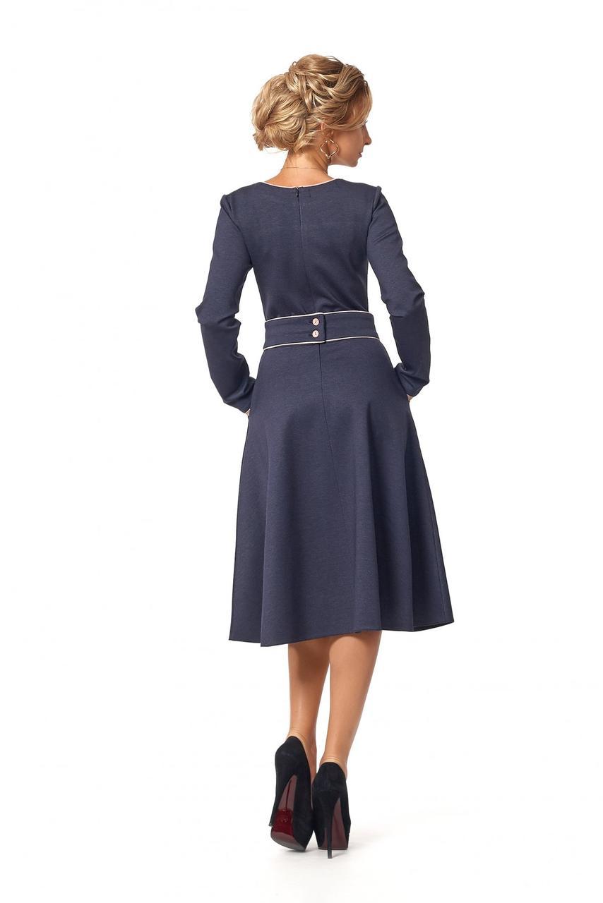 a77bb9440ea Женское тёмно-синие осеннее платье миди