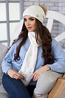 Комплект «Мэрис» (шапка + шарф) 4450-10 белый