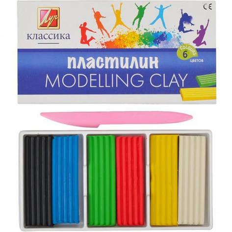 Пластилін «Класика» 6 кольорів, 120 г 878-08, фото 2