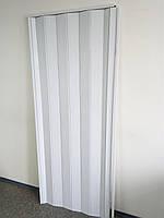 Гармошка межкомнатная пластиковая глухая белый ясень  610, 810х2030х6мм