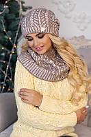 Комплект «Онорин» (шапка + шарф-хомут) 4451-7 тёмный кофе