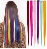 Разноцветные накладные пряди,чёлки. Эффект милирования.
