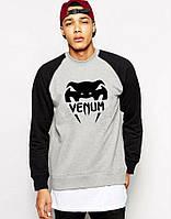 Спортивная кофта Venum\Венум, серо-черная, Л385
