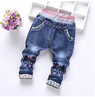 Стильные джинсы для девочки 74-80