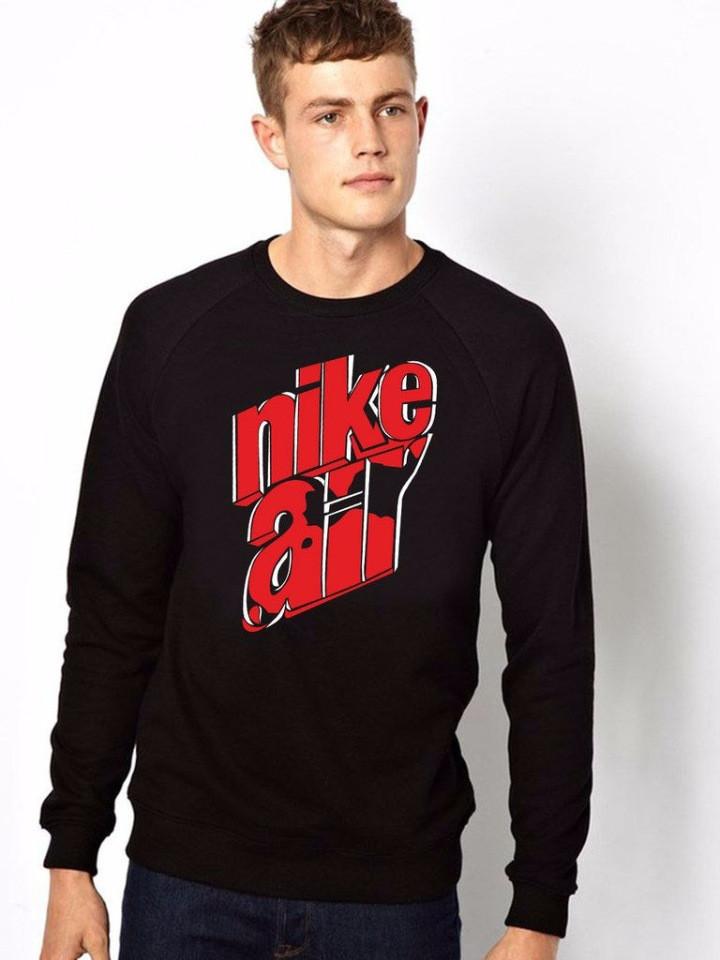 7d2cc3c4 Спортивная кофта Nike, найк, черный цвет, большой красный логотип на груди,  Л4060