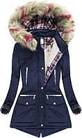 Парка куртка  женская зимняя клетка
