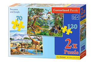 Пазли Castorland 2 в 1 Сафарі і Джунглі