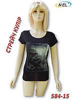 Женская футболка стрейч кулир