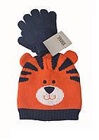 Шапка и перчатки детские осенние для мальчика