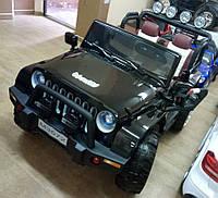 Детский двухместный электромобиль JEEP М 3572 EBLR- 2, черный