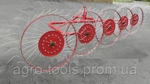 Грабли ворошилки тракторные на 5 колец Agromech, фото 2