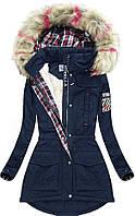 Парка куртка  женская зимняя клетка №1
