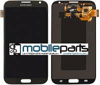 Дисплей (Модуль) + Сенсор (Тачскрин) для Samsung N7100 Galaxy Note II (Черный)