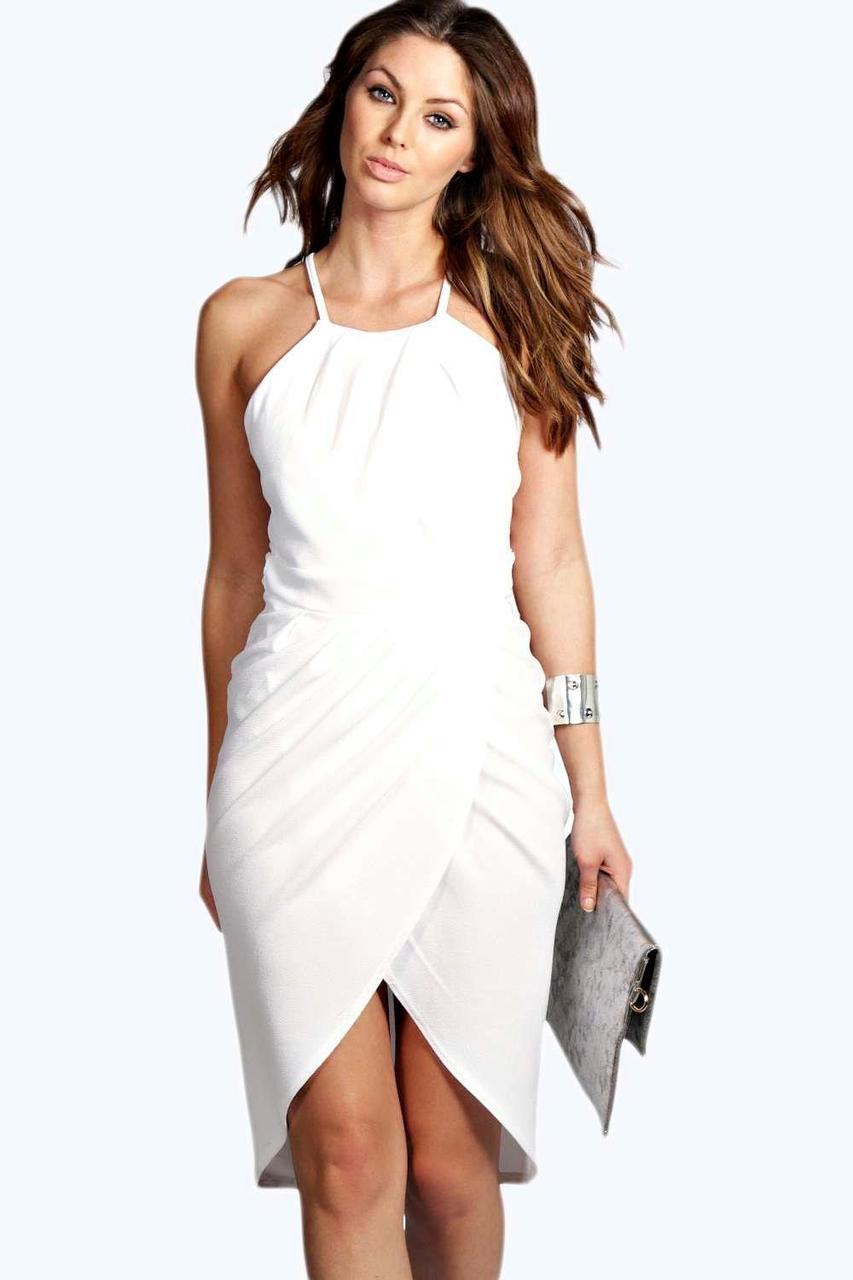 Белое миди платье Boohoo
