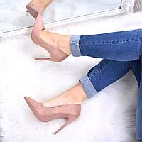 Туфли женские на шпильке Vices So Kate бежевая пудра 3615, CHRISTIAN LOUBOUTIN